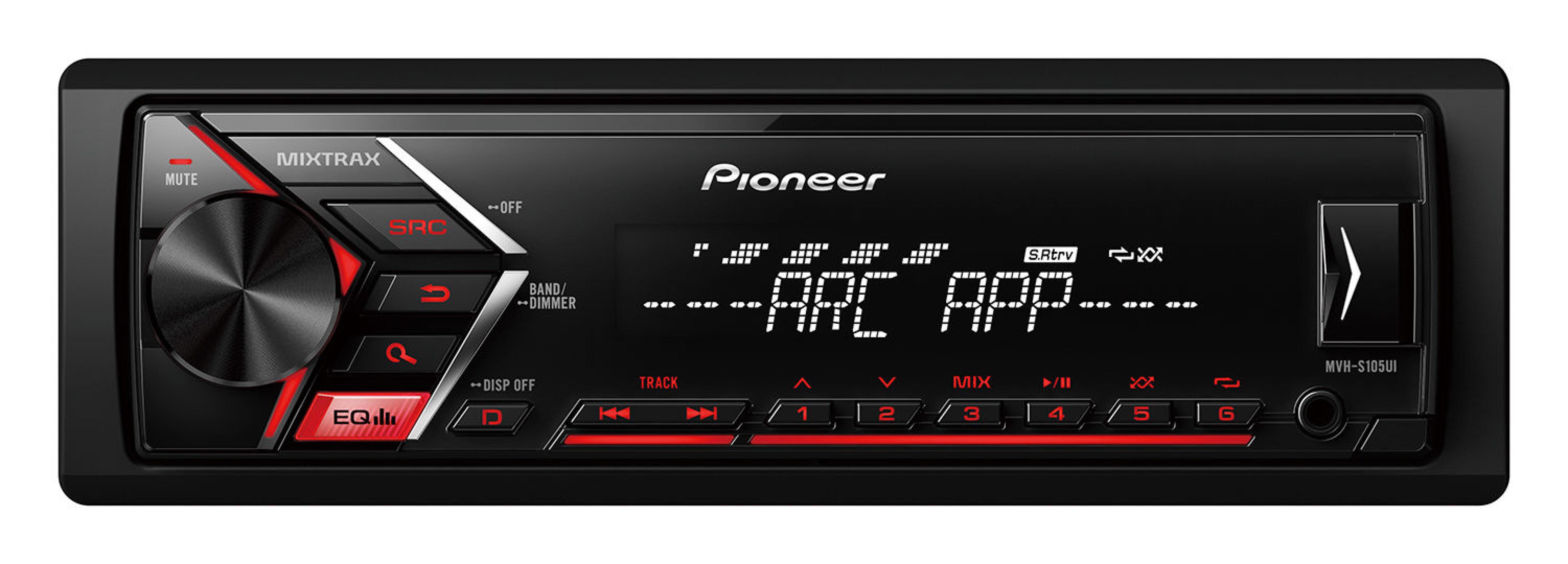 پخش کننده خودرو پایونیر مدل MVH-S105UI | Pioneer MVH-S105UI Car Audio